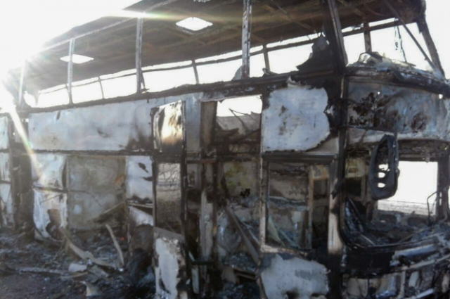 Kazakh bus fire kills 52 as just five survive