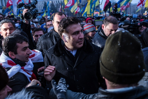 Saakashvili leads rally in opposition to Ukrainian president, ex-ally