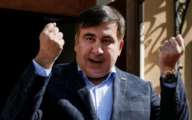 Ukrainian Opposition Leader Saakashvili Flies to Netherlands