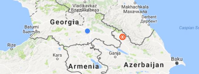 Map Of Georgia District 6.6 Magnitude Earthquake Hits Azerbaijan Near Georgian Border