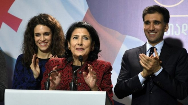 Exit Polls Give Lead to Salome Zurabishvili