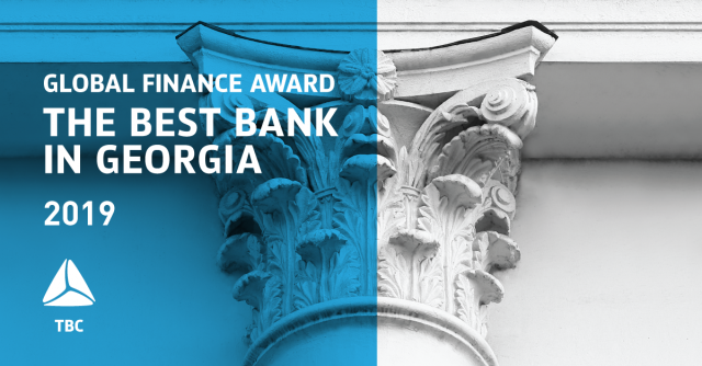 TBC Bank Wins The Best Bank in Georgia 2019 Award from