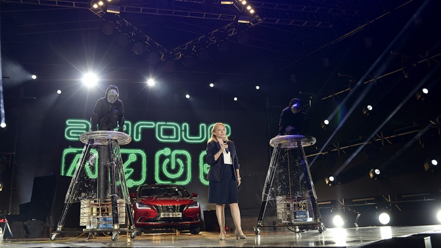 Economy Minister At Kutaisi Electric Car Factory